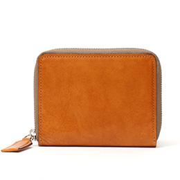 ボーデッサン(BEAU DESSIN) レザー ウォレット 二つ折り財布 キャメル