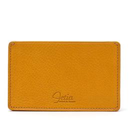 fetia(フェティア) ヒオナシリーズ レザー カードケース パスケース イエロー