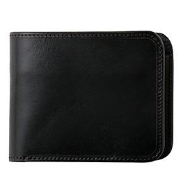 ファイブウッズ(FIVE WOODS) CASK(キャスク) ブライドルレザー 二つ折り財布 ブラック