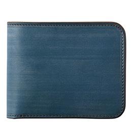 ファイブウッズ(FIVE WOODS) CASK(キャスク) ブライドルレザー 二つ折り財布 ブルー