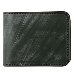ファイブウッズ(FIVE WOODS) CASK(キャスク) ブライドルレザー 二つ折り財布 モスグリーン