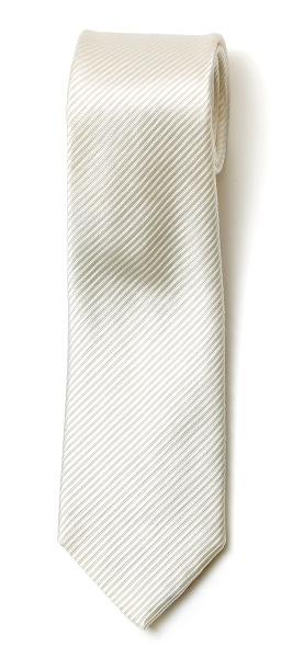 フランコ スパダ(Franco Spada) ネクタイ 無地 ストライプ織 ホワイト