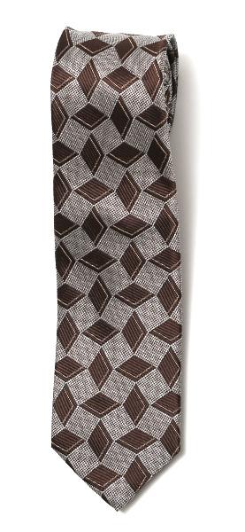 フランコ スパダ(Franco Spada) ネクタイ ダイス柄 ブラウン