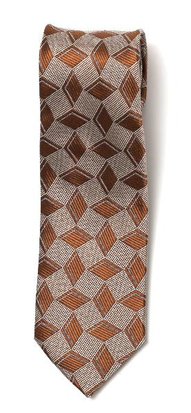 フランコ スパダ(Franco Spada) ネクタイ ダイス柄 ライトブラウン