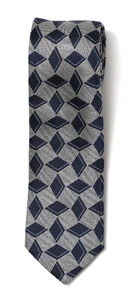 フランコ スパダ(Franco Spada) ネクタイ ダイス柄 ネイビー