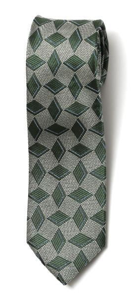 フランコ スパダ(Franco Spada) ネクタイ ダイス柄 グリーン