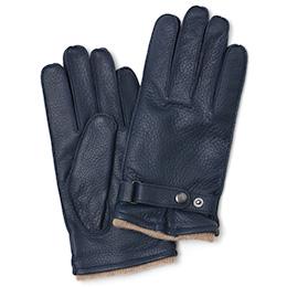 KURODA(クロダ) 鹿革 メンズ 手袋 ネイビー