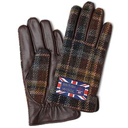KURODA(クロダ) ブリティッシュウール メンズ 手袋 ブラウン