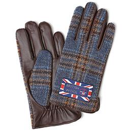 KURODA(クロダ) ブリティッシュウール メンズ 手袋 ブルー