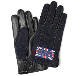 KURODA(クロダ) ブリティッシュウール メンズ 手袋 ネイビー