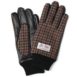 KURODA(クロダ) ハリスツイード メンズ 手袋 ブラウン