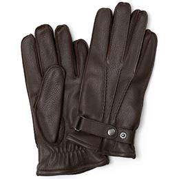 KURODA(クロダ) ディアスキン(鹿革) 手袋 ダークブラウン