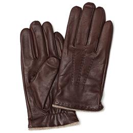 KURODA(クロダ) 羊革(イタリア製ラムスキン) 手袋 TAN(ダークブラウン)