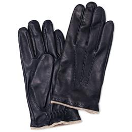 KURODA(クロダ) 羊革(イタリア製ラムスキン) 手袋 ネイビー