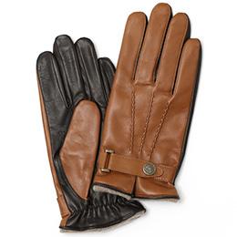 KURODA(クロダ) 羊革(イタリア製ラムスキン) 手袋 LUGGAGE(キャメルブラウン)