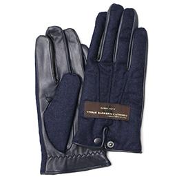 KURODA(クロダ) カノニコ社製ウール生地 手袋 ネイビー
