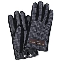 KURODA(クロダ) カノニコ社製ウール生地 手袋 グレー/チェック