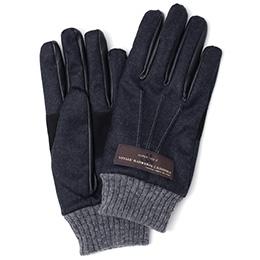 KURODA(クロダ) カノニコ社製ウール生地 手袋 ブラック