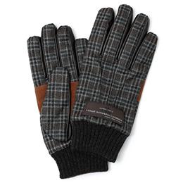 KURODA(クロダ) カノニコ社製ウール生地 手袋 ブラウン/チェック