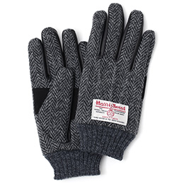 KURODA(クロダ) ハリスツイード 羊革(ラムスキン) 手袋 グレー