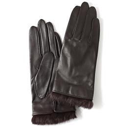 KURODA(クロダ) 羊革 レディース 手袋 ダークブラウン