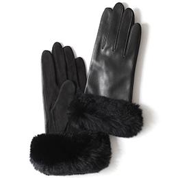 KURODA(クロダ) 羊革 レディース 手袋 ブラック