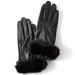 KURODA(クロダ) 羊革 レディース 手袋 ブラック/ブラック