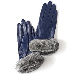 KURODA(クロダ) 羊革 レディース 手袋 ブルー