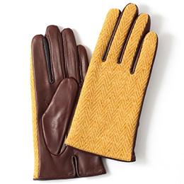 KURODA(クロダ) 羊革 レディース 手袋 イエロー