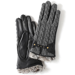 KURODA(クロダ) 羊革 レディース 手袋 グレー