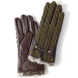KURODA(クロダ) 羊革 レディース 手袋 カーキ