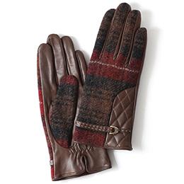 KURODA(クロダ) 羊革 レディース 手袋 ブラウン
