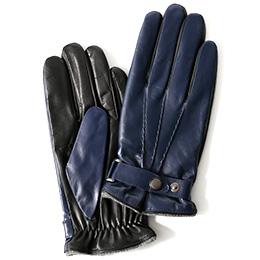 KURODA(クロダ) 羊革(イタリア製ラムスキン) 手袋 ブルー