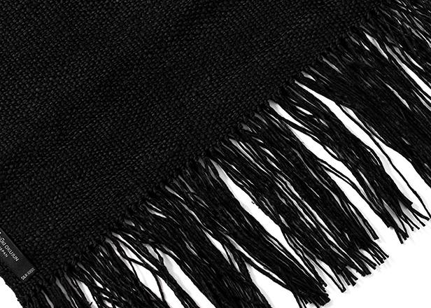 結城紬 ブラック
